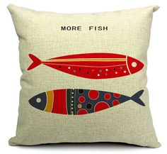 Fish pillow cover American Pastoral more fish more happy by acsoul