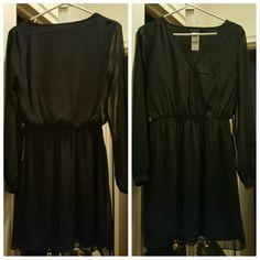Express dress Black dress for work or hanging out. Brand new  never worn Express Dresses Long Sleeve
