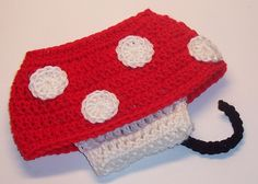 RED MINNIE MOUSE Diaper Cover Skirt CrocheT  Girl, SiZES AVAiLABLE Preemie Newborn Infant PHoTO PRoP Halloween Costume