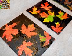 The Keeper of the Cheerios: Fall Leaf Resist Painting