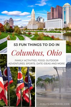 These fun things to do in Columbus, Ohio will keep you busy during your entire stay in Ohio's capital city. In this Columbus Guide, you'll find family activities, great restaurants, outdoor activities, sports, date night ideas, things to do in Columbus with kids, and more! This guide includes many of Columbus' most popular suburbs including Dublin, Hilliard, Powell, Westerville, Worthington, and more. Travel Pics, Places To Travel, Travel Destinations, Canada Travel, Usa Travel, All Family, Family Travel, Family Activities, Outdoor Activities