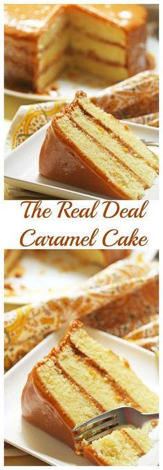 Real Deal Caramel Cake | Grandbaby Cakes: