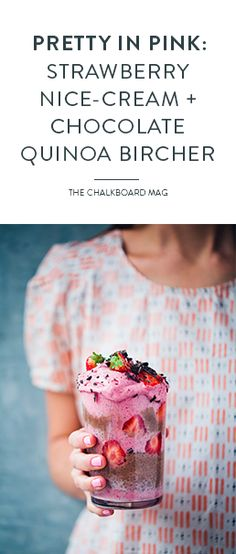 """We're obsessed with the European blogger-photographer team behind Green Kitchen Stories! Meet their latest summer-friendly recipe for nice cream with chocolate quinoa """"bircher""""…"""