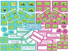 Polka Dot Classroom Labels Set product from Mrs-Copelands-Classroom on TeachersNotebook.com