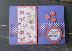 Handmade Girls Garden Party Birthday Card