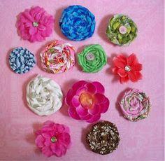 Crafting and Creativity: Classic DIY Fabric Flower Tutorials