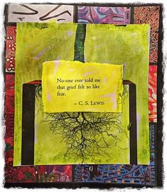 """""""Art Therapy and Fear: Acknowledging the Dread""""© 2016 """"It's not 9/11, it's 11/9"""" art journal entry, C. Malchiodi, PhD 
