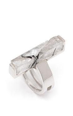 Rutilated Quartz Rod Ring by Kelly Wearstler for Preorder on Moda Operandi