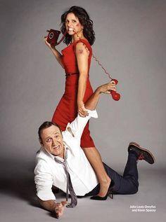 Julia Louis-Dreyfus & Kevin Spacey #entertainmentweekly