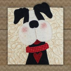 Boston Terrier Precut Fused Applique Kit Precut Fused Kits The Whole Country Caboodle Dog Quilts, Cute Quilts, Animal Quilts, Small Quilts, Mini Quilts, Baby Quilts, Penny Rug Patterns, Baby Quilt Patterns, Applique Patterns