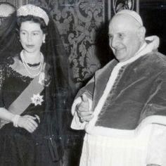 1961 visit by Queen Elizabeth II to the Vatican, where she met with Pope John XXIII.