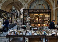 Bookstore in Galerie Vivienne, Paris, France Paris Travel, France Travel, Galerie Vivienne, Street Library, Cute Store, Grand Paris, Paris Love, Paris Street, Paris City