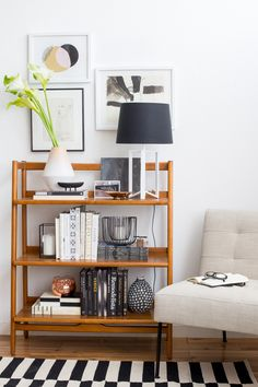 1 Bookshelf 4 Ways: The Eclectic Sophisticate