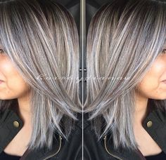 Image result for highlights for salt and pepper hair