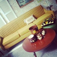 Awesome Vintage Mid Century Modern Sofa at Hot House Market #vintage #midcentury #vintageboutique  www.hothousemarket.com