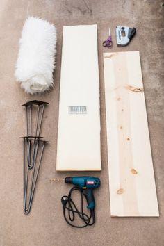 DIY hairpin bench
