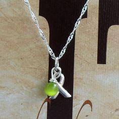 Lyme Disease, Babesia, Celiac Disease Awareness Necklace - Sterling Silver. $25.95, via Etsy.