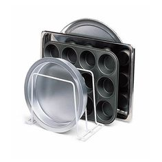 This would be perfect for all types of cookie sheets, and muffin pans. Also a good way to keep pot lids organized.