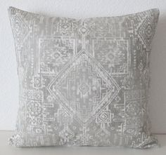Grey tribal boho chic pillow cover by vintagechicdecor on Etsy