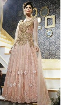 def6be88b4 Mistyrose Color Net Fabric Ladies Disigner Stitched Gowns Dresses with  Dupatta #gowns , #designer , #women… | Gowns Wedding Evening Ethnic Gowns  Online ...