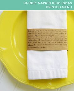 Recycle cardboard by creating your own printed menu. #GoGreenDecor