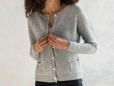 Heathered Cardigan Sweater Knitting Kit