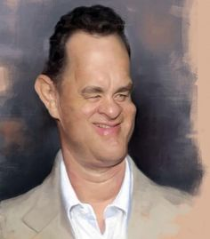 Tom Hanks (Caricature) Dunway Enterprises: http://dunway.com - http://masterpaintingnow.com/how-to-draw-everything?hop=dunway