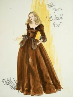 """Edith Head scetch for """"All about Eve"""""""