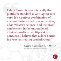 What are the experts saying about #Ldara? #skincare