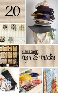 20 Closet Organization Tips & Tricks