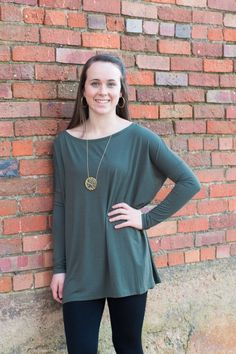 Piko Long Sleeve Top {Army}