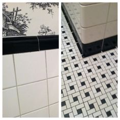 1000 images about bathroom original 1930 39 s on pinterest for 1930s tile floor