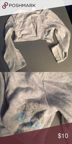 Toddler girls Sz 2t Elsa silver half sweater Toddler girls Sz 2t Elsa silver glitter/sparkle half sweater great over dresses great condition jumping beans  Shirts & Tops Sweaters