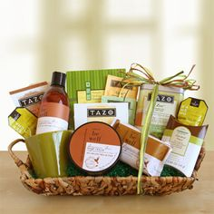 "Tazo ""Be Well"" Tea Basket"