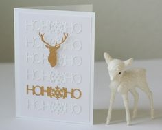 I can also picture the deer cutout over a fireplace mantel on a card
