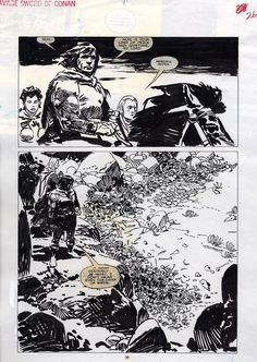 Jorge Zaffino Savage Sword of Conan 162 p.26, in Lambert Sheng's Jorge Zaffino Comic Art Gallery Room