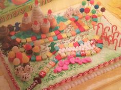 Candyland cake i am making for birthday 12th Birthday, Birthday Cakes, Birthday Ideas, Birthday Parties, Party Party, Party Time, Party Ideas, Teen Girl Cakes, Candy Land