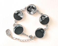 Bracelet Phases of the Moon, Moon Bracelet,0108BOS from EgginEgg by DaWanda.com
