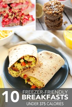 Kick-start the workweek with one of these freezer-friendly breakfasts, all for less than 375 calories! You'll set yourself up for morning success. Low Carb Recipes, Cooking Recipes, Healthy Recipes, Healthy Breakfasts, Healthy Snacks, Breakfast Time, Breakfast Recipes, Healthy Cooking, Healthy Eating