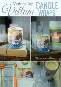 Vellum Candle Wraps – All Things Heart and Home | DIY & Crafts