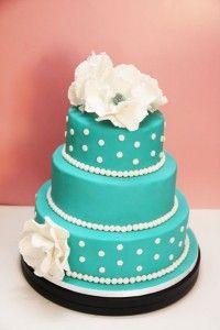 Tiffany blue wedding cake. Maybe for the wedding shower?