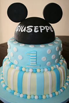images baby mickey cakes | Baby Mickey Cake