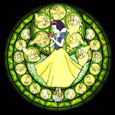 Stained glass - Snow White