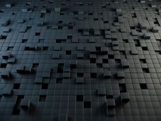 Black Abstract Cubes - 3D Abstract Wallpaper