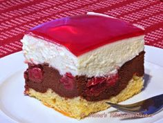 Little Red Riding Hood cake on the plate - backen - Kuchen Baking Recipes, Cake Recipes, German Baking, German Cake, German Desserts, Cake & Co, Food Cakes, Cakes And More, No Bake Desserts
