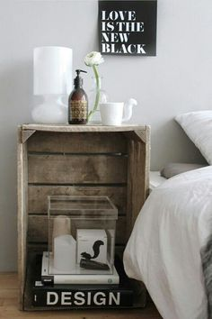 Mesa de noche original y low cost