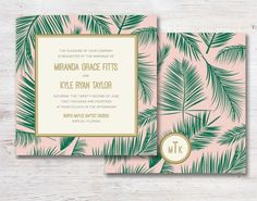 Inspiration : une Tropical Party - Save The Deco Wedding Stationary, Wedding Invitations, Invites, Tropical Party, Amazing Weddings, Invitation Cards, Bunt, Wedding Cards, Wedding Planner