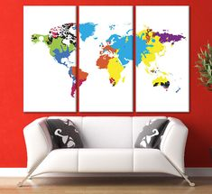 Large world map wall art 3 panel world map framed map white world large world map wall art 3 panel world map framed map white world map water world map map of the world wall canvas map monde wall decor map http gumiabroncs Image collections
