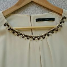 Zara jeweled blouse Zara jeweled blouse Zara Tops Blouses