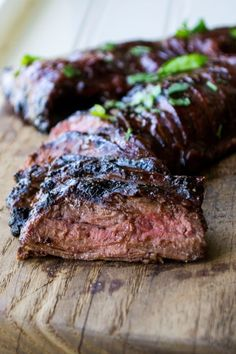 Grilled Flank Steak with Cherry Habanero BBQ Sauce | Grilled Flank Steak with Cherry Habanero BBQ Sauceis a tender steak grilled in a sweet and spicy sauce. Perfect for both busy weeknights and lazy weekends.| Pack Momma | https://www.awickedwhisk.com